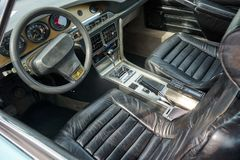 Houtaud/Franche Comté/France/June 2018 : Interior Of A 1970s Ci. Troen DSM Parked At Oldtimer car Rallye royalty free stock image