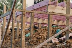 Houtconstructie van privé huizen Stock Foto