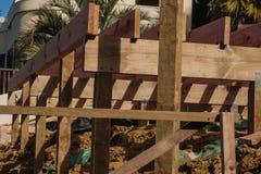 Houtconstructie van privé huizen Stock Foto's