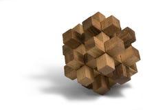 Houten 3D raadsel Stock Foto