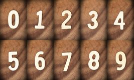 Houten aantal Royalty-vrije Stock Foto's