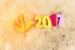 Houten aantal van 2017 voor nieuwe jaarvieringen Royalty-vrije Stock Afbeelding