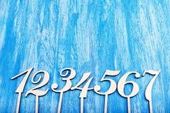 Houten aantallen Royalty-vrije Stock Afbeeldingen
