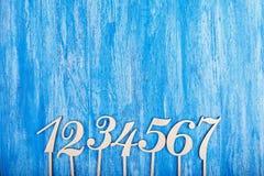 Houten aantallen Royalty-vrije Stock Fotografie