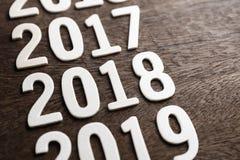 2018 houten Aantallen Stock Foto