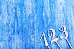 Houten aantallen Royalty-vrije Stock Afbeelding
