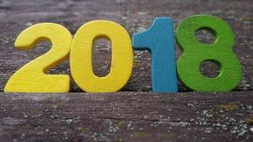 houten aantallen die het aantal 2018 vormen Stock Fotografie