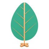 Houten Abstract Toy Tree het 3d teruggeven Royalty-vrije Stock Afbeelding