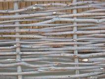 Houten acaciaomheining stock afbeeldingen