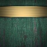Houten Achtergrond met Gouden Band Royalty-vrije Stock Foto
