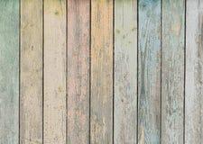 Houten achtergrond of textuur met pastelkleur gekleurde planken stock fotografie