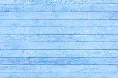 Houten achtergrond van blauwe horizontale strepen Royalty-vrije Stock Afbeelding