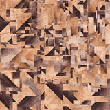Houten achtergrond, vierkanten abstract patroon Stock Foto's
