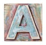 Houten alfabet Stock Afbeelding