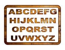 Houten alfabet Stock Foto's