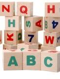 Houten alfabet Royalty-vrije Stock Afbeeldingen