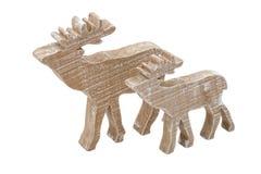 Houten Amerikaanse elanden Stock Foto's