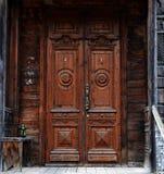 Houten architechture van Siberië Stock Fotografie