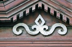 Houten architectuur van Kostroma, Rusland Stock Foto's