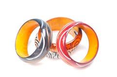 Houten armbanden Royalty-vrije Stock Foto
