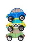 Houten auto'sspeelgoed Royalty-vrije Stock Foto's