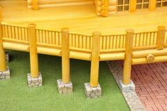 Houten balkonmodel royalty-vrije stock foto