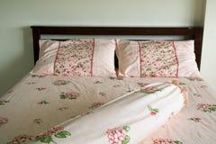 Houten bed Stock Foto's