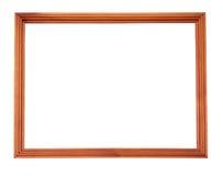 Houten beeld-kader dat op witte achtergrond wordt geïsoleerd stock fotografie