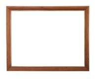 Houten beeld-kader dat op witte achtergrond wordt geïsoleerdr Royalty-vrije Stock Fotografie
