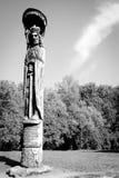 Houten beeldhouwwerk, Trakai Stock Afbeelding