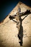 Houten beeldhouwwerk van Jesus-Christus stock foto's