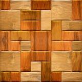 Houten behang decoratieve muur - naadloze textuur als achtergrond stock foto