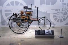 Houten 1886 Benz Patent Motorwagen Royalty-vrije Stock Afbeelding