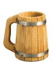 Houten biermok   Royalty-vrije Stock Foto
