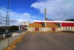 Houten biomassaelektrische centrale Royalty-vrije Stock Afbeeldingen