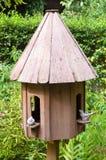 Houten birdcage Stock Afbeeldingen