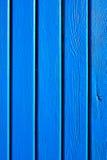 Houten blauwe planken Stock Afbeelding