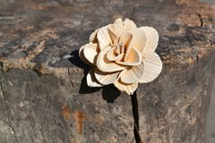 Houten bloem Royalty-vrije Stock Afbeelding