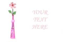 Houten bloem in urn. Zeer optimistisch Royalty-vrije Stock Afbeelding