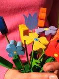 Houten bloemen Royalty-vrije Stock Foto's