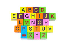 Houten blokken met brieven Royalty-vrije Stock Afbeelding