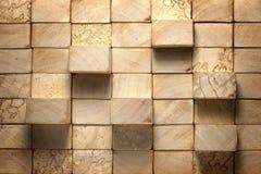 Houten blokken uitstekende achtergrond Stock Foto's