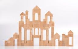 Houten blokkenkasteel Royalty-vrije Stock Afbeelding
