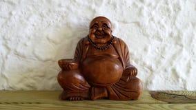 Houten boeddha royalty-vrije stock afbeeldingen