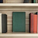 Houten Boekenrek Royalty-vrije Stock Foto's