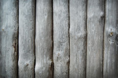 Houten boomstampalissade Stock Foto's