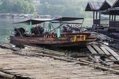 Houten boot Stock Afbeelding