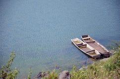Houten boot, gemaakte hand - Royalty-vrije Stock Foto