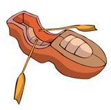 Houten Boot Vectorillustratie Royalty-vrije Stock Afbeelding