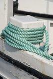 Houten bootdetail stock foto's
